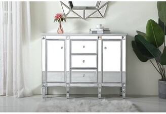 Prestige 2 Door Mirrored Apothecary Square Accent Cabinet