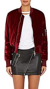 Amiri Women's Velvet Bomber Jacket - Red