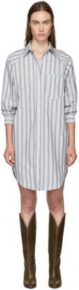 Etoile Isabel Marant Blue and White Sanders Dress
