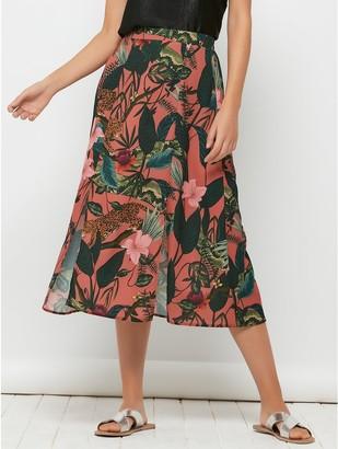 M&Co Sonder Studio jungle print skirt