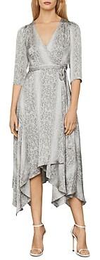 BCBGMAXAZRIA Python Print Wrap Dress