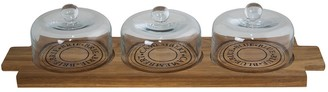 Salt & Pepper Fromage Acacia Wood Cheese Board with 3 Domes 46 x 14cm