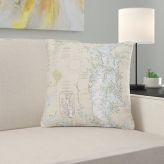 V&A East Urban Home Chesapeake Bay - Rock Hall, MD and VA Non Corded Indoor/Outdoor Throw Pillow East Urban Home