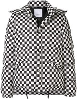 Ports V check-print padded jacket