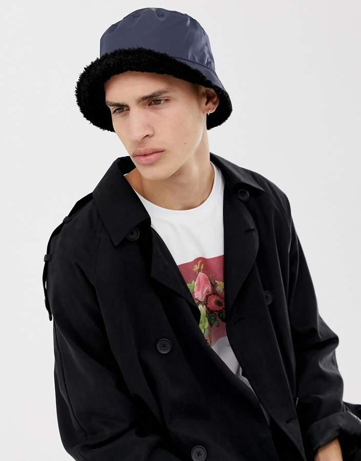 8e8649e60 Design DESIGN bucket hat in nylon with borg internal