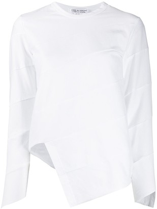 Comme des Garcons Asymmetric Paneled Long-Sleeved Top
