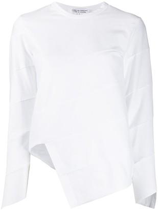 Comme des Garçons Comme des Garçons Asymmetric Paneled Long-Sleeved Top