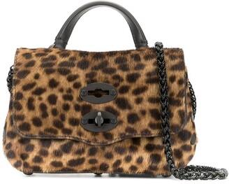 Zanellato Postina leopard-print tote bag