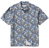 Tommy Bahama Short-Sleeve Tropicalia Floral Garden Palm Print Woven Shirt