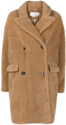 Closed Double-Breasted Teddy Coat