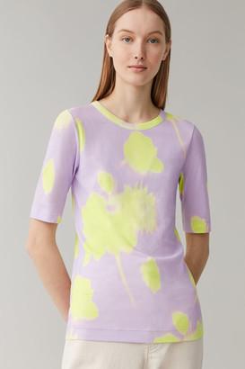 Cos Printed Slim-Fit Cotton T-Shirt