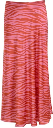 Monika The Label Patti Animal Print Maxi Slip Skirt