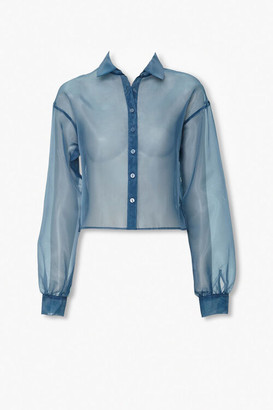Forever 21 Sheer Organza Shirt