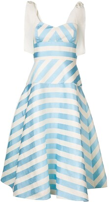 DELPOZO striped A-line dress
