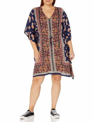 Angie Women's Plus Size Printed Caftan Dress