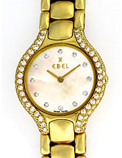 "Ebel Beluga"" 18K Yellow Gold Diamond Womens Watch"