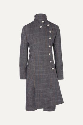Chloé Asymmetric Double-breasted Wool-blend Coat - Gray