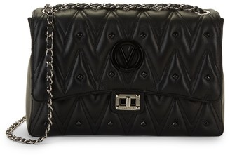 Mario Valentino Valentino By Posh D Sauvage Rockstud Chevron Leather Shoulder Bag