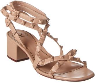 Valentino Rockstud Flair 50 Leather Sandal