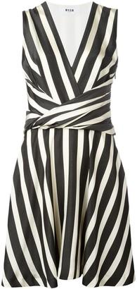 MSGM Striped Flared Dress