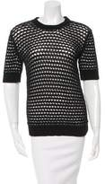 Derek Lam Open Knit Crew Neck Sweater
