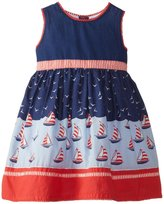 Jo-Jo JoJo Maman Bebe Nautical Party Dress (Baby) - Navy-18-24 Months