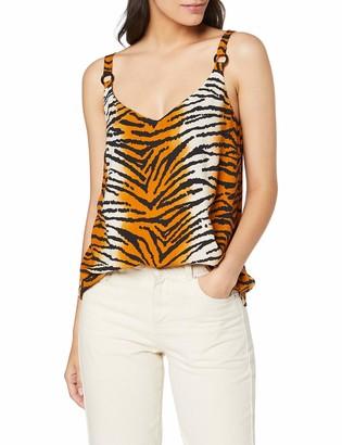 Dorothy Perkins Women's Ring Detail Tiger Print Cami Vest Top