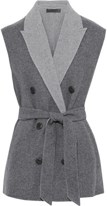 Rag & Bone Pearson Double-breasted Wool-blend Felt Vest
