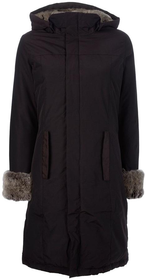 Woolrich faux fur trimmed coat