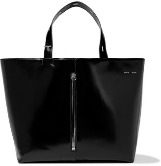Kara Betty Large Glossed-leather Tote