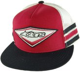 Alpinestars Mens Triple Stripe Trucker Hat, Baseball Cap, Snap-back