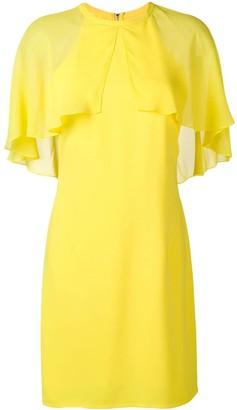 Karl Lagerfeld Paris Cape Overlay Dress