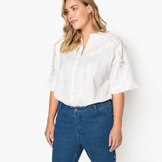 Castaluna Plus Size Ruffled Cotton Tunic
