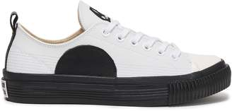 McQ Plimsoll Appliqued Leather Sneakers
