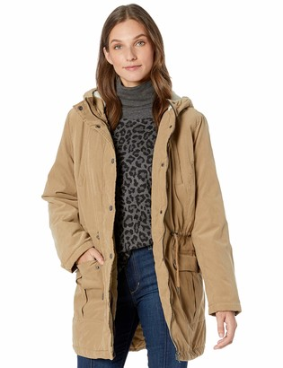 Big Chill Women's Plus Size Microfiber Anorak with Warm Sherpa Lining
