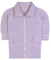 Miu Miu Zipped Jersey Top