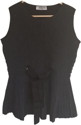 Valentino Anthracite Wool Top for Women