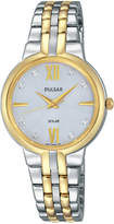 Pulsar Women's Solar Two-Tone Stainless Steel Bracelet Watch 29mm PY5024