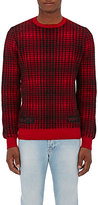 Off-White Men's Buffalo-Checked Wool Sweater-RED