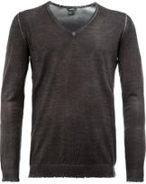 Avant Toi distressed V-neck jumper