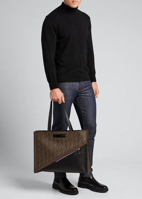 Fendi Men's FF Logo Tote Bag