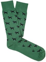 J.Mclaughlin Pima Cotton Sock Motif