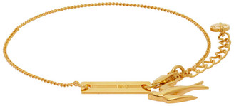 McQ Gold Swallow Bracelet