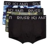 River Island Green Camo Print Mini Hipsters Multipack