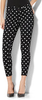 New York & Co. Soho Jeans - High-Waist Ankle Legging - Polka-Dot Print