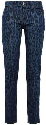 Just Cavalli Leopard-print Mid-rise Skinny Jeans