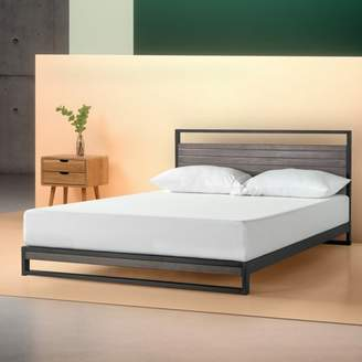 "Zinus Suzanne 14"" Metal and Wood Platform Bed with Headboard, Multiple Sizes & Multiple Colors"