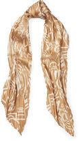Ralph Lauren Tania Crinkled Silk Scarf