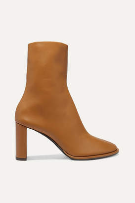 The Row Teatime Leather Ankle Boots - Tan
