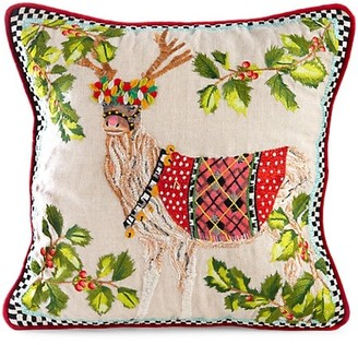 Mackenzie Childs Santa's Reindeer Pillow